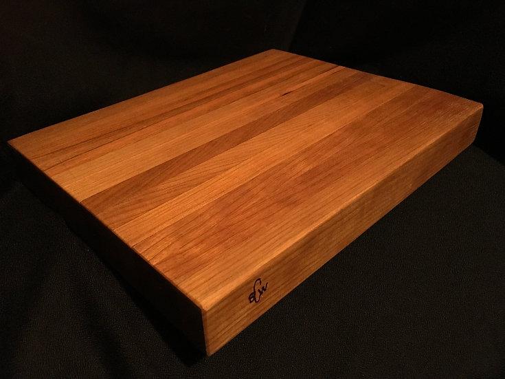 Cherry Hardwood Edge Grain Cutting Board - Handmade Butchers Block
