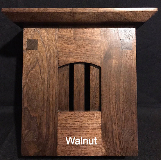 Craftsman Style Wood Doorbell Chime Cover (Walnut) with Top