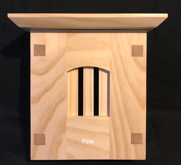 Craftsman Style Wood Doorbell Chime Cover (Pine) with Top