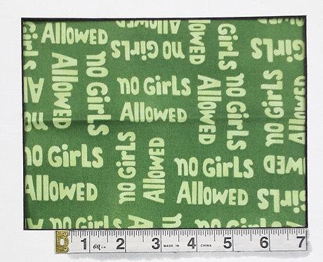 No Girls Allowed - Green