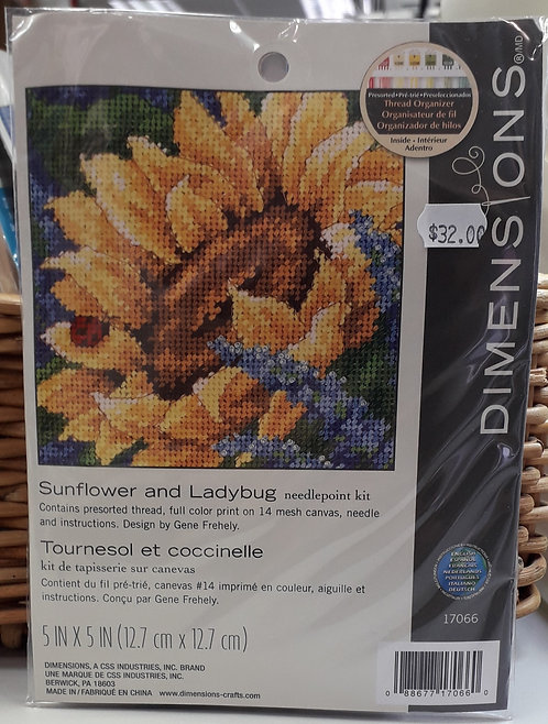 Dimensions - Sunflower and Ladybug