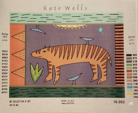 Kate Wells Canvas - Tiger