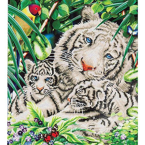 Diamond Dotz White Tiger & Cubs