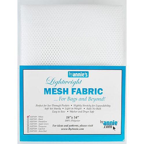 """Mesh Fabric (18""""X54"""") - WHITE"""