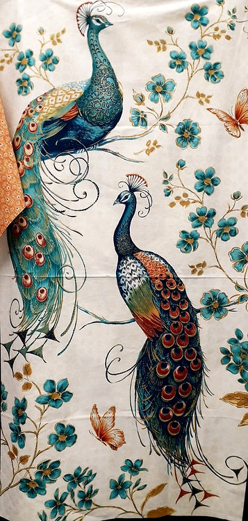 Peacock Pavilion Panel  by Blank Quilting