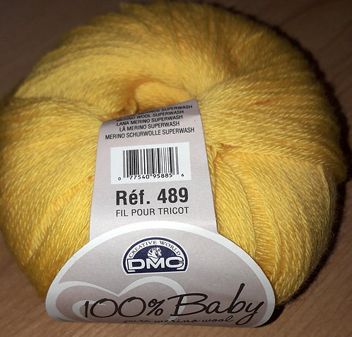 100% Baby-pure Merino wool yellow/out of stock