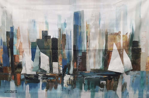 Harbor Reflections - 1.12cm wide x 72cm