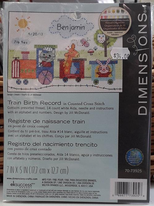 Dimensions - Train Birth Record