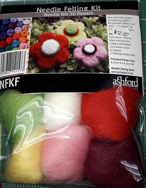 Needle felt kit - Flowers