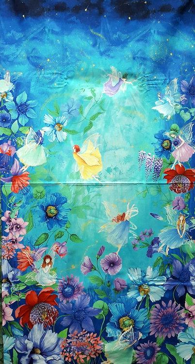 Timeless Treasures Fabrics Fairy Fantasy Flower Fairy Panel