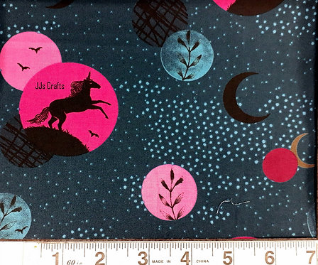Crescent Silhouettes in Teal