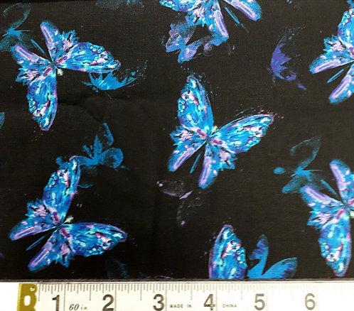 Timeless Treasures Misty Black Butterfly