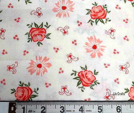 Moda Fabrics Harpers Garden Sherri and Chelsi Ivory Garden Blooms