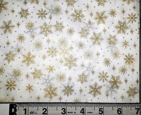 Magic Christmas whte wth Metallic Snowflakes