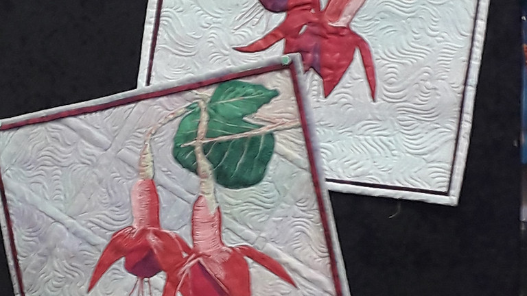 Thread Painting with Fuschias