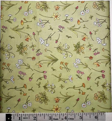 Tossed Floral - LT Olive