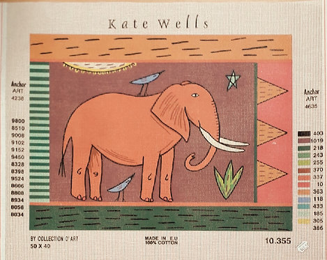 Kate Wells Canvas - Elephant