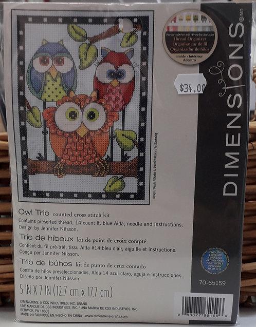 Dimensions - Owl Trio