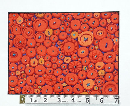 Button Mosaic - Orange