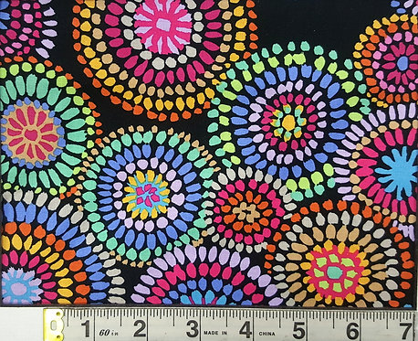 Mosaic Circles - Black PWGP176