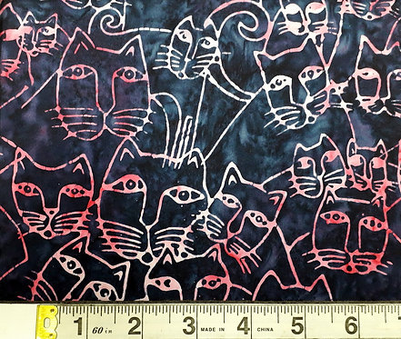 Packed Cats - light Navy/Pink