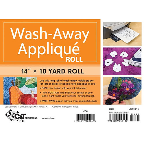 Wash-Away Applique paper