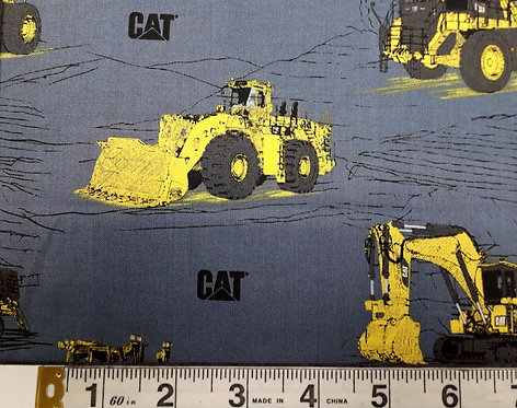 CAT - Diggers on Petrol Blue
