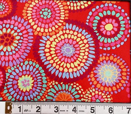 Free Spirit Mosaic Circles PWGP176.RED