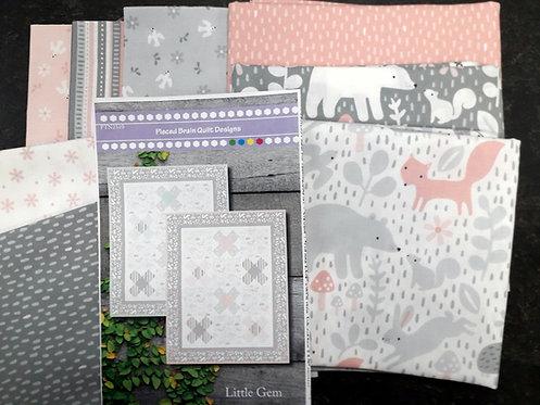 Little Gem Baby Quilt- Pink/Grey