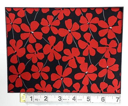 Red Alert - Black Floral