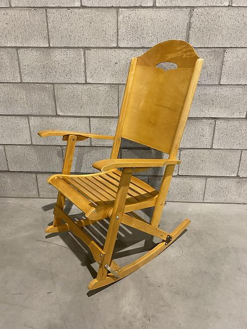 Chaise Berçante Pliable - Fafard et Frères - Vintage Folding Rocker