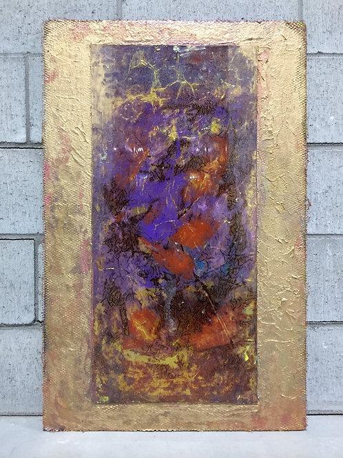 Œuvre Abstraite sur Panneau