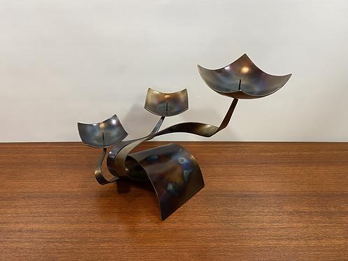 Bougeoir Moderniste Mid-Century - FerArt Artisan Mtl  - Candle Holder