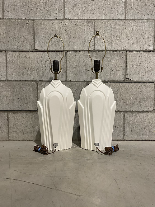 Lampes de Table Années 80 - Vintage Ceramic Table Lamps from the 80's