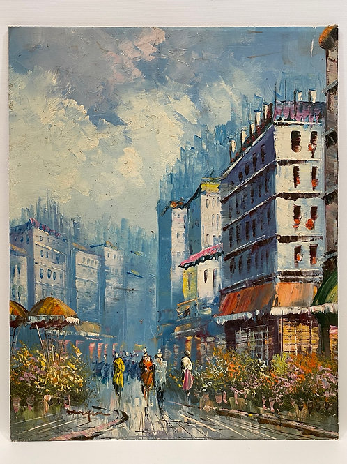 Peinture Impressionniste Huile sur Panneau signée Morgan