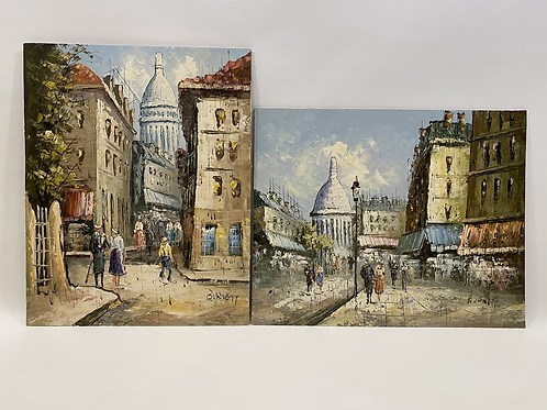 Duo Peintures Impressionniste par Caroline Burnett