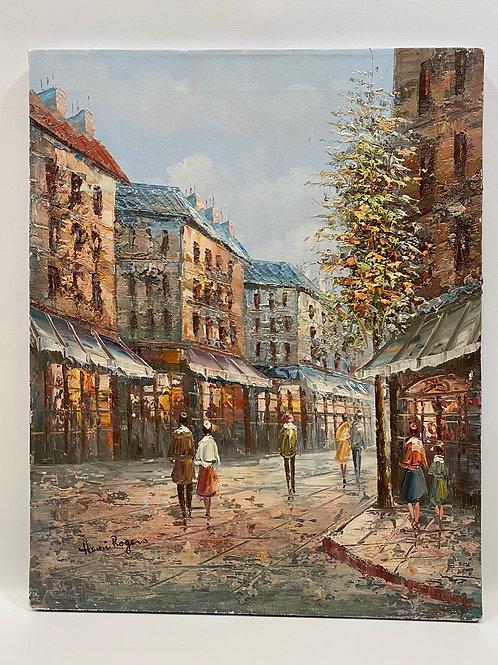 Huile sur Toile de Henri Rogers - Original Artwork