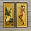 Thumbnail: 2 Œuvres Vintage Huile sur Panneau  - 2 Vintage Oil on Board Paintings