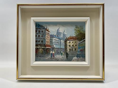 Paris Montmartre Huile sur Toile signée M. Sandor - Original Artwork