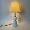 Thumbnail: Lampe de Table Vintage - Vintage Milk Glass Table Lamp