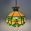 Thumbnail: Lampe Vintage en Vitrail - Années 70 - Vintage Stained Glass Light
