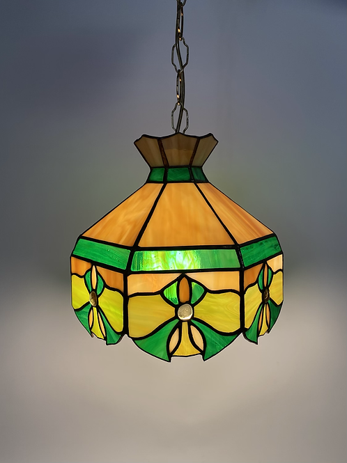 Lampe Vintage en Vitrail - Années 70 - Vintage Stained Glass Light