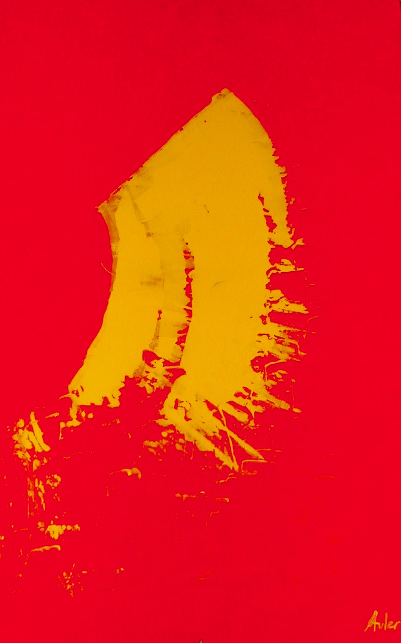 Yellow over red