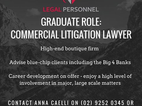 Graduate opportunity: Commercial Litigation