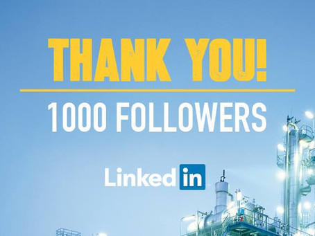 We recently reached 1000 followers on LinkedIn!