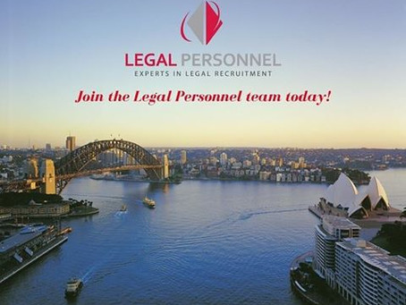 Legal Personnel is hiring!