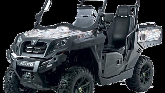 Quadzilla Tracker 550 road legal ATV showing optional full roof and windscreen.