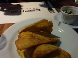 Patacones (fried plantain)