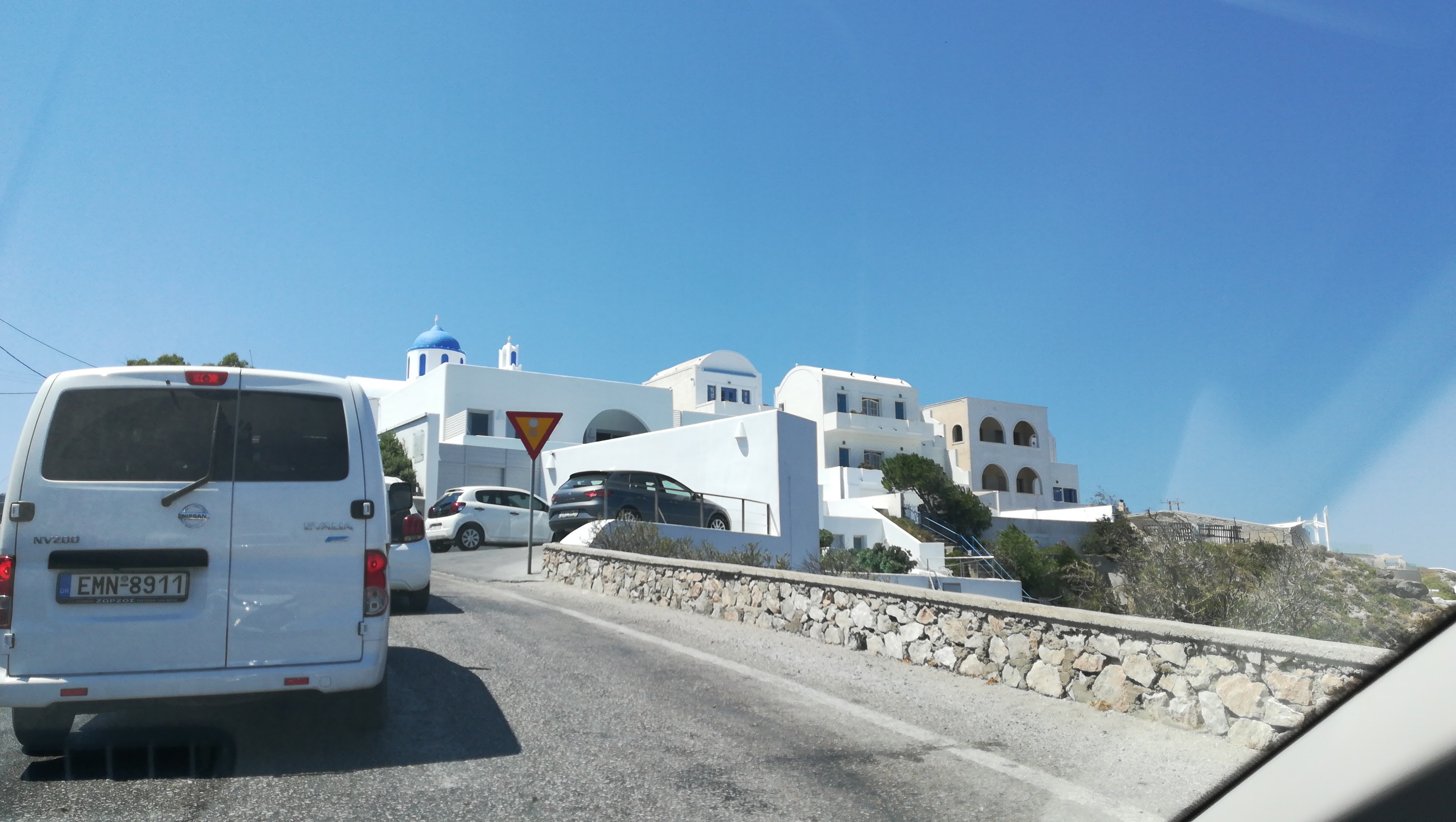 First white houses in sight