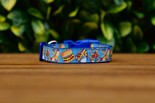 Fast Food Dog Collar / Hamburger / Hotdog / S - L
